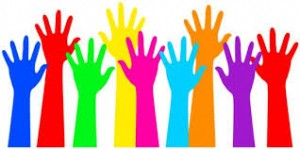 Charities-colourful hands