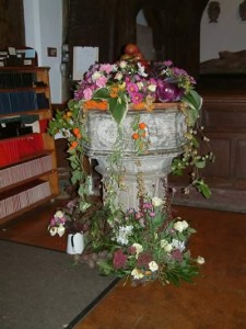 The Font at Harvest time